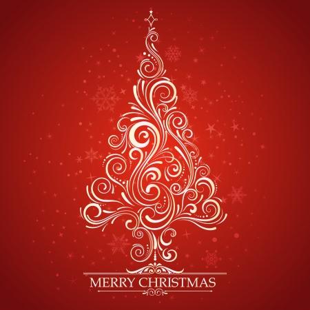 cenefas decorativas: ?rbol de Navidad Vectores