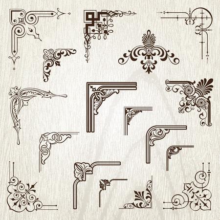 ビンテージ フレーム要素  イラスト・ベクター素材