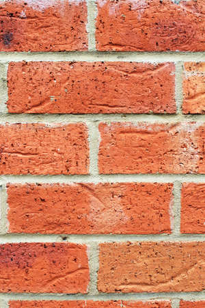 Close up background red brick wall photo