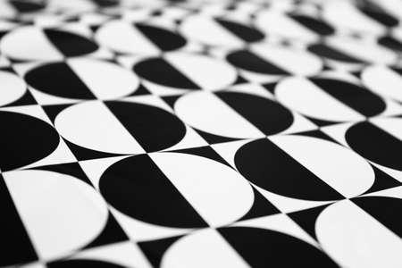 Horizontal black and white circle pattern for full frame background photo