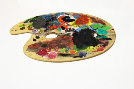 painter's palette: Painters Palette Stock Photo