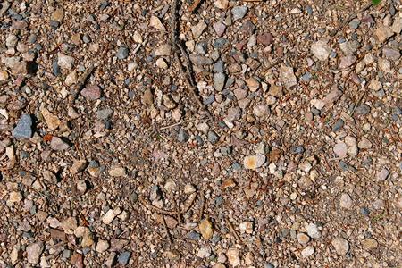detai: Way poured out small pebbles gravel Stock Photo