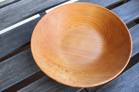 rustical: Empty wooden plates Stock Photo