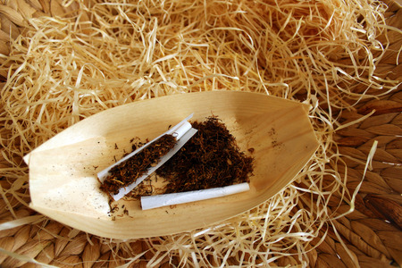 tar paper: hand-rolling cigarettes with high quality dark tobacco