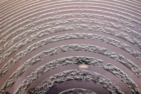 sandblasted: Abstract closeup of black wave texture, sandblasted glass