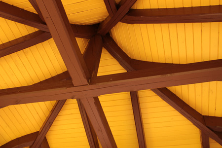 roof ridge: Roof ridge and rafters