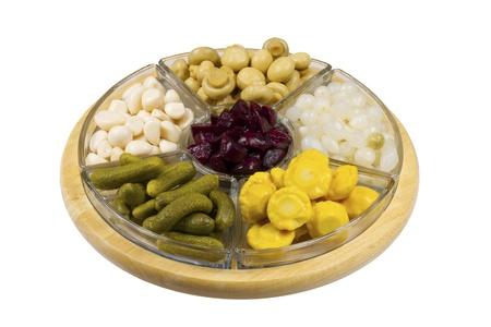 Selection of pickled vegetables Banque d'images