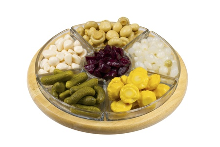 Selection of pickled vegetables Stock Photo