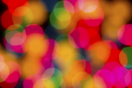 Abstract colorful spotlights out of focus photo