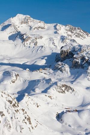 Frech Alps ski resort La Plagne, glacier Bellecote