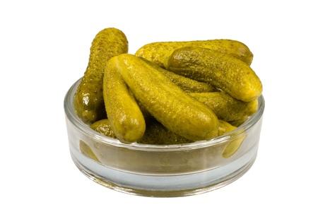 Pickled vegetables - sour gherkins Stock Photo