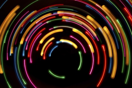 neon lights: Abstract light circles background