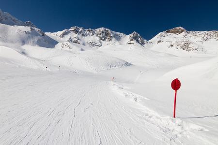 Winter ski resort Stubai glacier in Austria