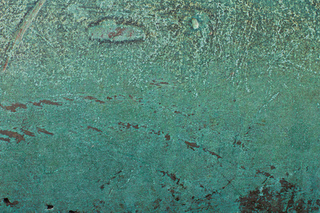cast iron: Turquoise rusty cast iron patina surface texture background