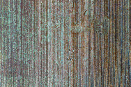 patina: Turquoise - brown rusty cast iron patina surface texture background Stock Photo