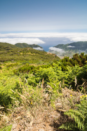 uplands: Spectacular view over the plateau Paul da Serra and Sao Vicente valley in Madeira island