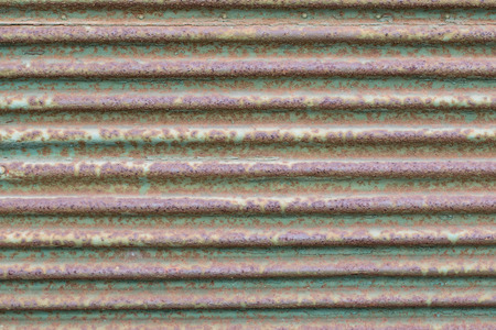 corrugated iron: Textured background of old rusty corrugated iron Stock Photo