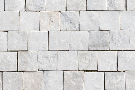 pavement: White granite cobblestoned pavement background