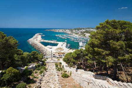 southernmost: View of marina in Santa Maria di Leuca - southernmost town in the Italian region Puglia Stock Photo