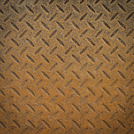 Rusty steel diamond plate texture pattern