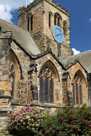 Historic St. Mary's Church with  Holy Apostles in Scarborough, North Yorkshire, England, on a sunny summer day Foto de archivo