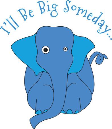 Wie kann man nicht lieben diese Babyelefanten. Die niedlichen Augen von Größe machen ihn nicht Ihre tägliche Elefanten! Er ist perfekt für Baby-Ausrüstung und Kinder dcor! Standard-Bild - 43672382