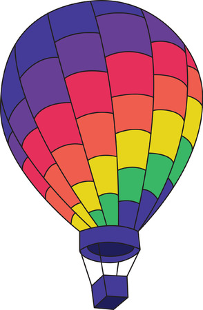 Let your imagination soar with this colorful hot air balloon design.  You can incorporate it into so many projects - let your imagination soar!
