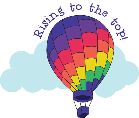 hopper: Let your imagination soar with this colorful hot air balloon design.  You can incorporate it into so many projects - let your imagination soar!