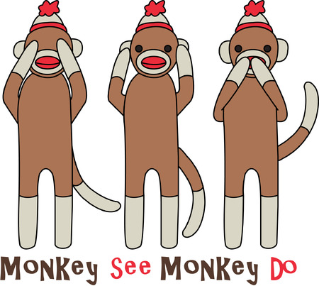 old time: Sock monkeys are an old time toy but these guys are not exactly your typical sock monkies.  They have a message - hear no evil, see no evil, speak no evil!  Isnt that clever