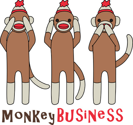 Sock monkeys are an old time toy but these guys are not exactly your typical sock monkies.  They have a message - hear no evil, see no evil, speak no evil!  Isnt that clever