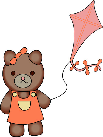 This kite flying sweetie bear is looking for a playmate.  She is absolutely the cutest thing on kid wear!  Turns an ordinary garment into a long time favorite.