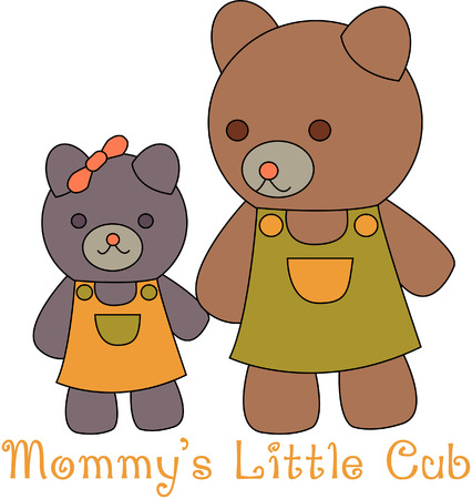Mom and her little girl bear are out for a stroll and arent they the cutest!  They are a great way to add a sparkle to your kid gear!