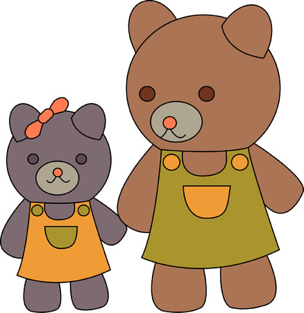 stroll: Mom and her little girl bear are out for a stroll and arent they the cutest!  They are a great way to add a sparkle to your kid gear!