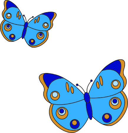 producing: Stitch on some beauty with these regal butterflies.  Fun and quick to stitch while producing an amazing decoration.