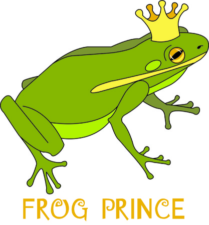 Maybe this is the frog that the magical kiss turns to a handsome prince!  What a fun thought to stitch on your projects for a special princess!