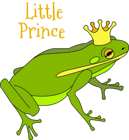 royal person: Maybe this is the frog that the magical kiss turns to a handsome prince!  What a fun thought to stitch on your projects for a special princess!