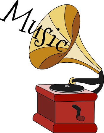 antique phonograph: Dress up a briefcase or  work shirts for your favorite DJ or music buff.  This vintage victrola is a sentimental throwback to the time of records and vinyl!