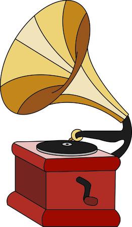 Verkleed een aktetas of op het werk shirts voor uw favoriete DJ of muziek buff. Deze vintage victrola is een sentimentele terugkeer naar de tijd van de platen en vinyl!
