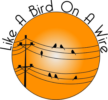 telephone poles: So many things on one design, birds on a wire, sunset, telephone poles!  We love it on pillows and decorative items!
