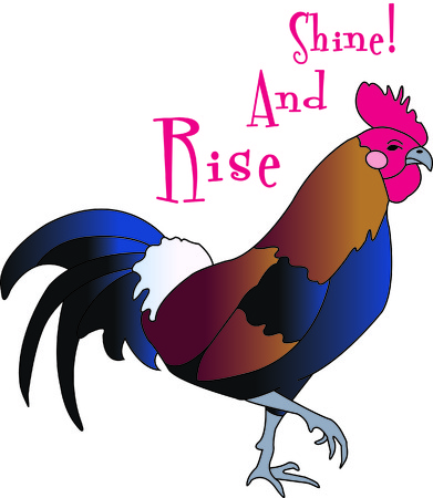 A good country morning from natures alarm!  Our pretty and colorful rooster is a perfect addition to any country dcor.