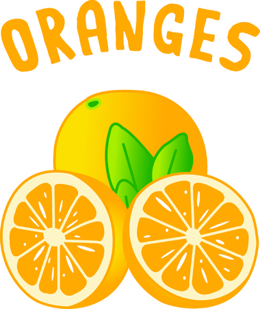 oj: Sweet, juicy oranges are a delight.  These tasty treats add just the right touch to kitchen linens.
