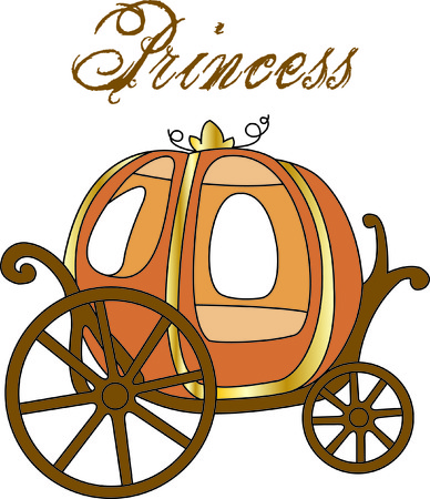Cinderella's carriage awaits your princess.  This lovely pumpkin coach stands ready to change girl gear to princess gear! Ilustração