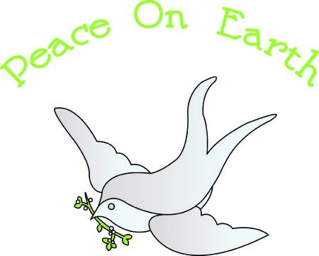 tranquility: Nuestra paloma con una rama de olivo es un s�mbolo precioso de la paz y la tranquilidad. Rellene puntadas con bordes de sat�n hacen de este estallido del dise�o de la tela.