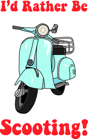 Gotta love the scooter.  It is such a run and stylish way to get around.  Add it to dcor or apparel to make a free spirited statement!