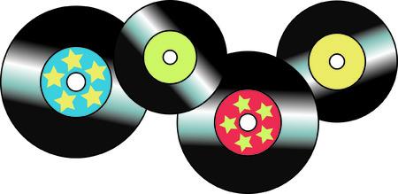 Denk aan de dagen van de vinyl platen en top 40 treffers Dit ontwerp is een afstand terug naar die tijd en zal dat sentimentele geheugen toe te voegen aan uw project.