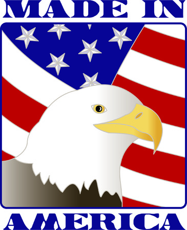 raptorial: This bald eagle and flag are a stunning, visual sign of patriotism.  This design is wonderful as a support our troops dcor or a July 4 decoration.