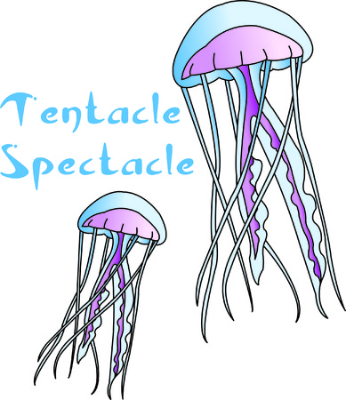 sea creature: Jelly fish are a visually interesting sea creature.  Stitch them onto your projects and create a something completely unique and quite interesting!