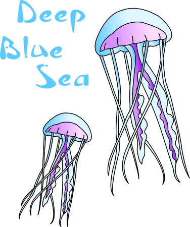 venomous: Jelly fish are a visually interesting sea creature.  Stitch them onto your projects and create a something completely unique and quite interesting!