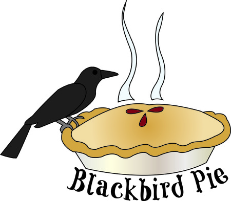 blackbird: Sing a song of six pence blackbird in a pie!  This unique design can be used to create some kitchen dcor second to none and like no other!