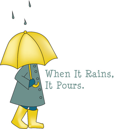 fond: Our sweet little girl loves a walk in the rain - remember how fun that was  Bring back fond memories and fun times when you add this pretty design to your rain gear or quilt. Illustration